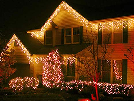 Well-Lit Christmas Decoration House